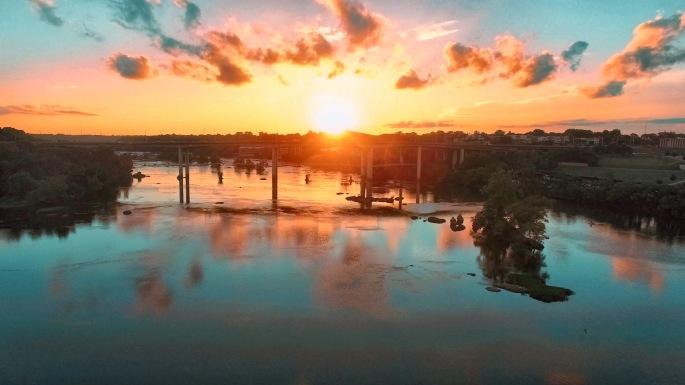 James River Sunset View, Richmond, Virginia