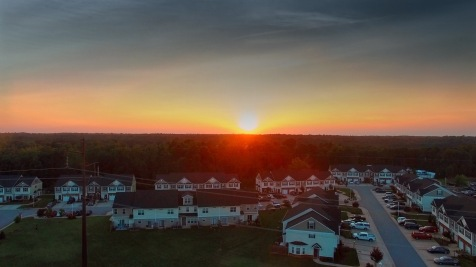 Sunset View above Rivermont Crossings, Chester, Viriginia