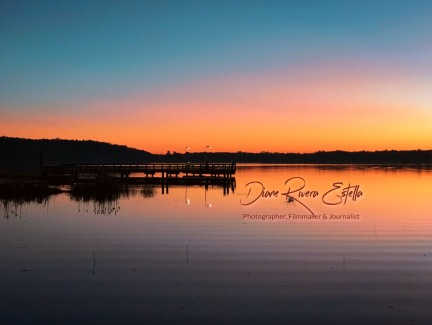 Pier View Sunset, Lake Tholocco, Alabama